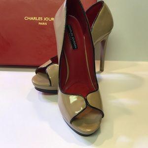 Size 9 1/2 Charles Jourdan peep toe heels